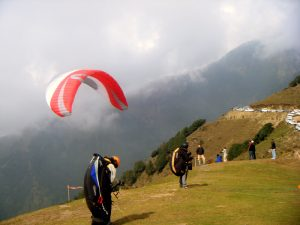 Paragliding in Bir Billing ,Kangra India